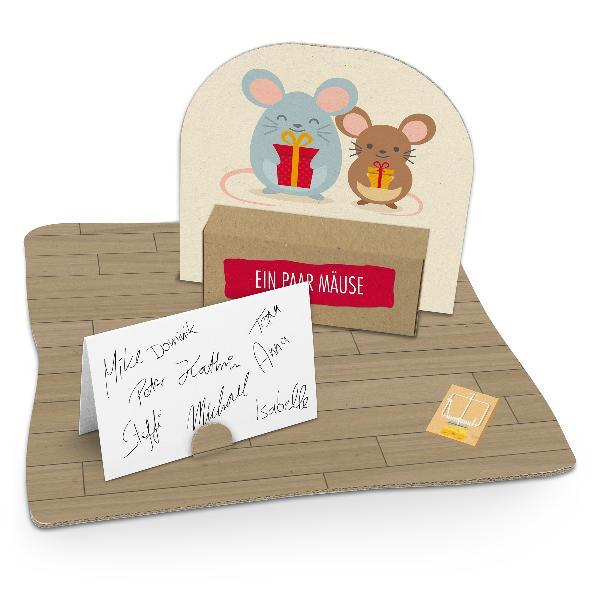 itenga Geldgeschenkverpackung Mäuse (Motiv 53) mit Boden...