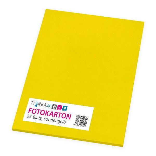 itenga Fotokarton - A4 300 g/qm sonnengelb 25 Blatt