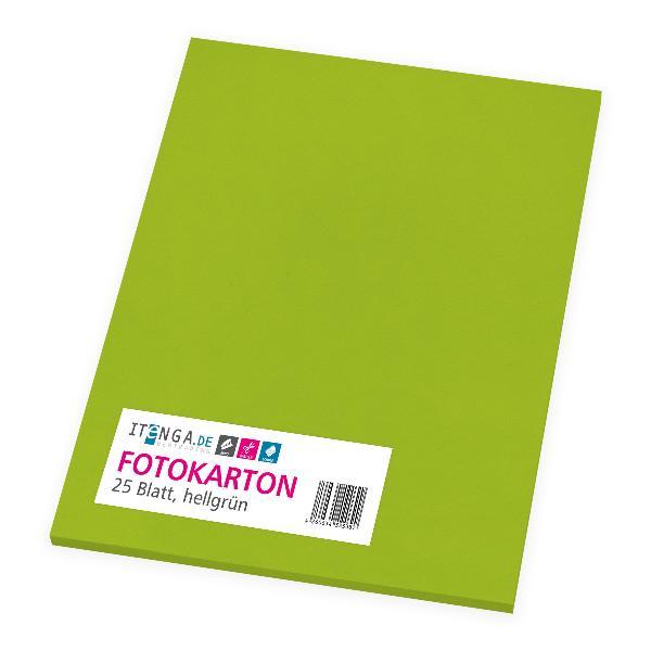 itenga Fotokarton - A4 300 g/qm hellgrün 25 Blatt