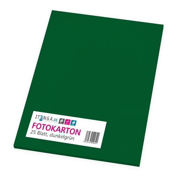 itenga Fotokarton - A4 300 g/qm dunkelgrün 25 Blatt