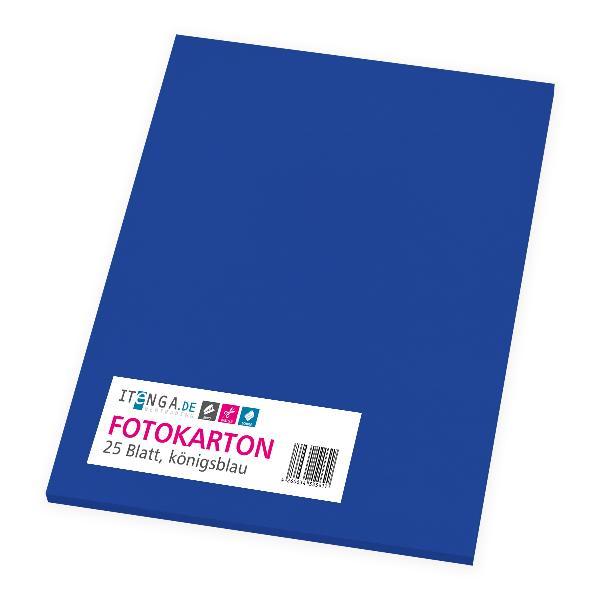 itenga Fotokarton - A4 300 g/qm königsblau 25 Blatt