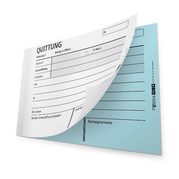 itenga Quittungsblock selbstdurchschreibend DIN A6 2x25 ...