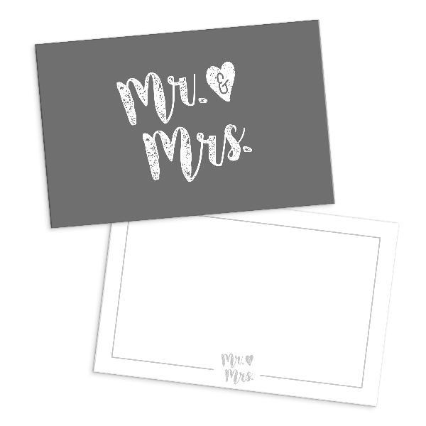 itenga 24x Dankeskarten Mr. & Mrs. Hochzeit Save the D...