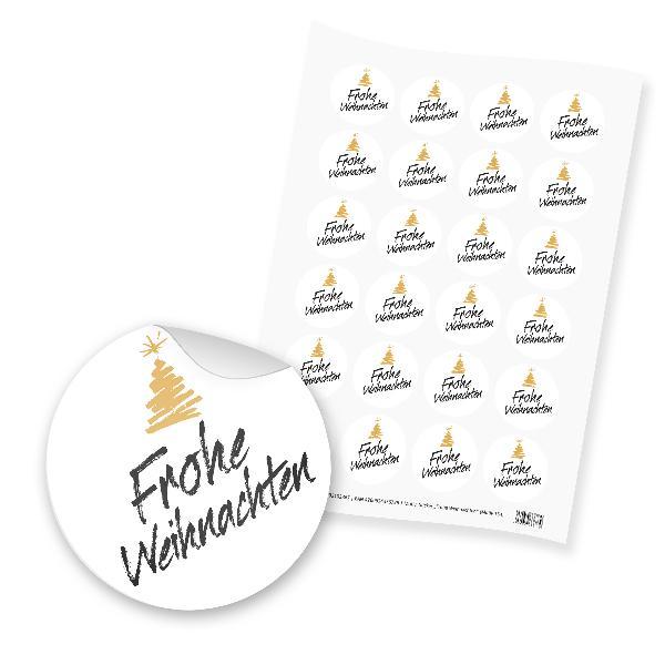 itenga 24x Sticker Frohe Weihnachten (Motiv 154)