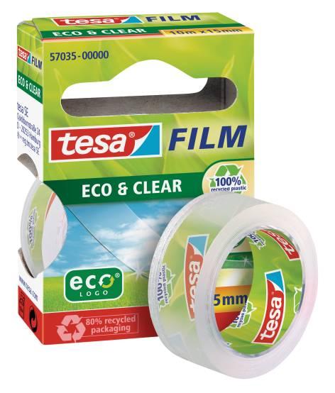 tesa Film Eco & Clear, transparent, 15 mm x 10 m