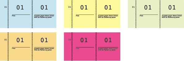 Nummernblock 1-100 105X53 In 5 Farben
