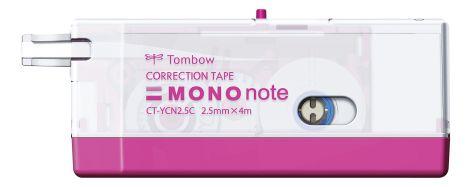TOMBOW Korrekturroller MONO note, 2,5 mm x 4 m, pink