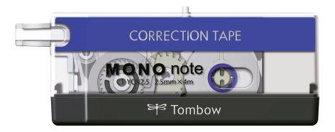 Tombow Korrekturroller MONO note, 2,5 mm x 4 m, schwarz