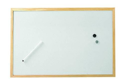 MAUL Weißwandtafel mit Holzrahmen, (B)400 x (H)300 mm