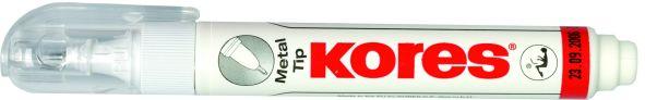 Kores Korrekturstift Metal Tip, weiß, Inhalt: 10 ml