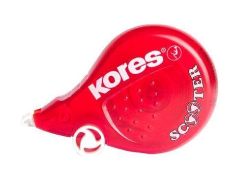 Kores Einweg-Korrekturroller SCOOTER, 4,2 mm x 8 m, rot