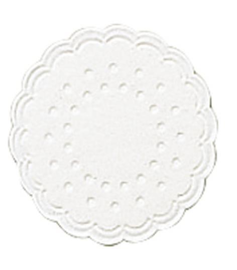 Untersetzer 8cm weiß 25 Stück