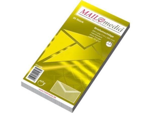 Brief-Umschlag DL weiss 25er-Pc Cello 221930-30002376
