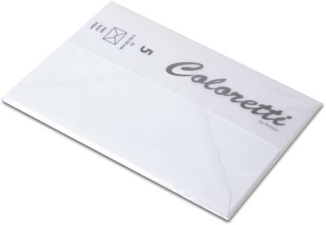 #5xBriefumschlag Coloretti C6 5Er Pack Weiss