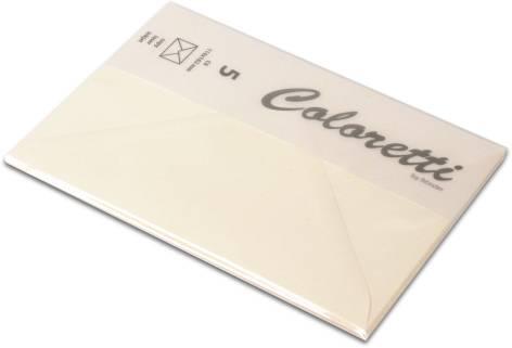 #5xBriefumschlag Coloretti C6 5Er Pack Creme
