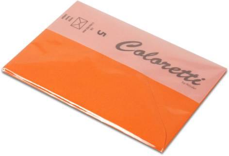 #5xBriefumschlag Coloretti C6 5Er Pack Apfelsine