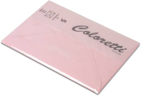 #5xBriefumschlag Coloretti C6 5Er Pack Rosa