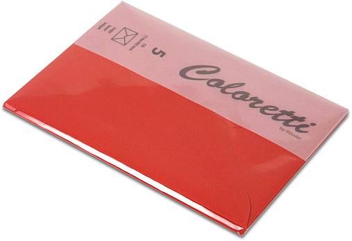 #5xBriefumschlag Coloretti C6 5Er Pack klatschmohn