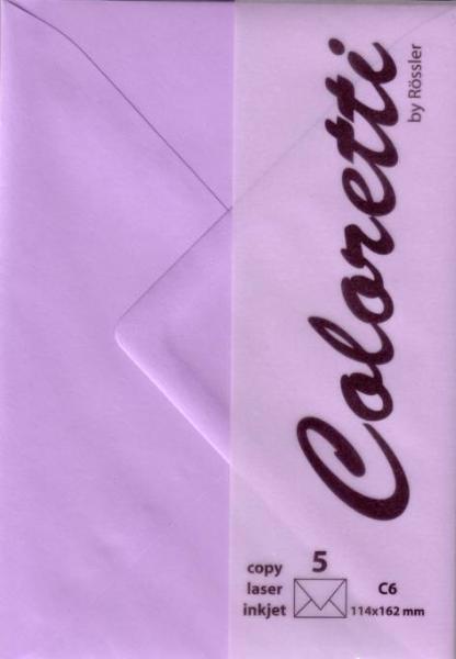 #5xBriefumschlag Coloretti C6 5Er Pack Lavendel