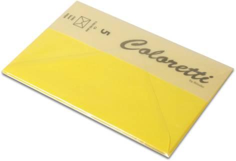 #5xBriefumschlag Coloretti C6 5Er Pack Goldgelb