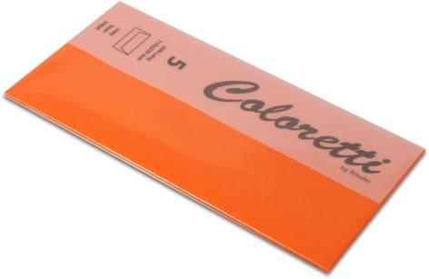 #5xBriefumschlag Coloretti DIN Lang 5Er Pack Apfelsine