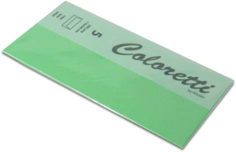 #5xBriefumschlag Coloretti DIN Lang 5Er Pack Hellgrün