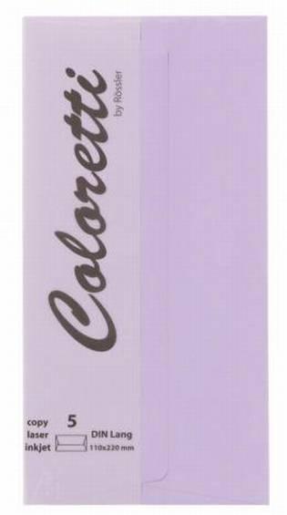 #5xBriefumschlag Coloretti Lavendel 5Er Pack DIN Lang