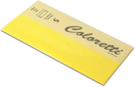 #5xBriefumschlag Coloretti DIN Lang 5Er Pack Goldgelb