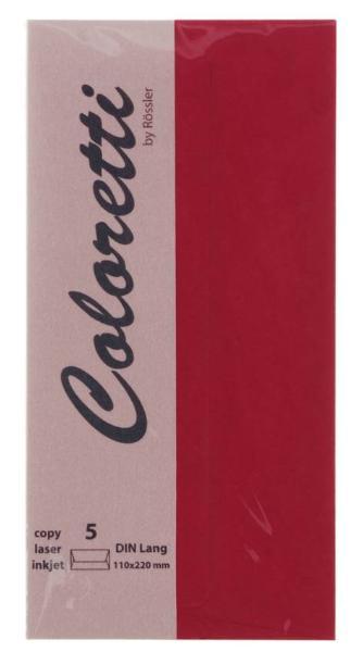#5xBriefumschlag Coloretti DIN Lang 5Er Pack Rosso