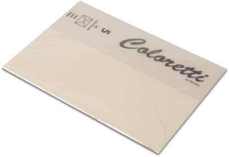 #5xBriefumschlag Coloretti B6 5Er Pack Creme