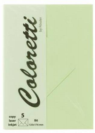 Briefumschlag Coloretti B6 5Er Pack Peppermint