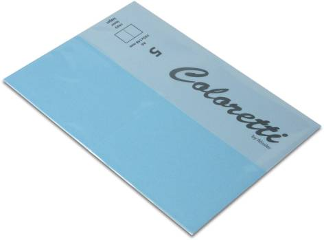 Karte A6 225G Hd Plano 5Er Pack Coloretti Himmelblau