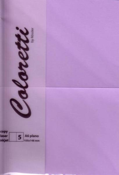 Karte A6 225G Hd Plano 5Er Pack Coloretti Lavendel