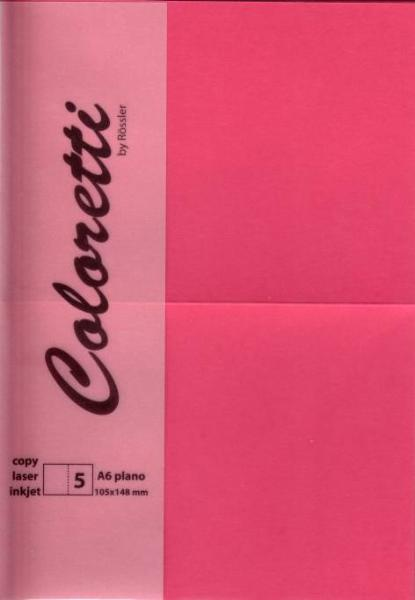 Karte A6 225G Hd Plano 5Er Pack Coloretti Pink