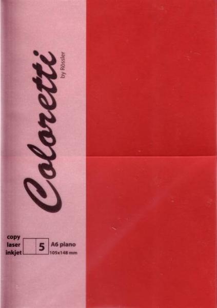 Karte A6 225G Hd Plano 5Er Pack Coloretti Rosso