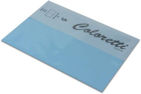 Karte B6 225G Hd Plano 5Er Pack Coloretti Himmelblau