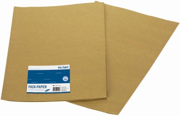 Milan-Packpapier 100x75cm 2er PC Natron Kraftpack 4302 M...