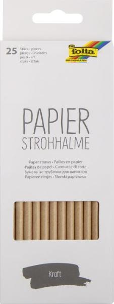 folia Papier-Trinkhalm KRAFT, Länge: 200 mm