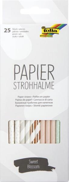 folia Papier-Trinkhalm SWEET BLOSSOM, Länge: 200 mm