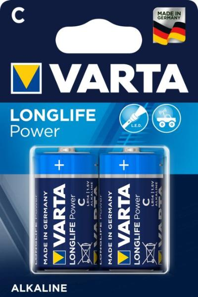 VARTA Alkaline Batterie LONGLIFE Power, Baby (C/LR14)
