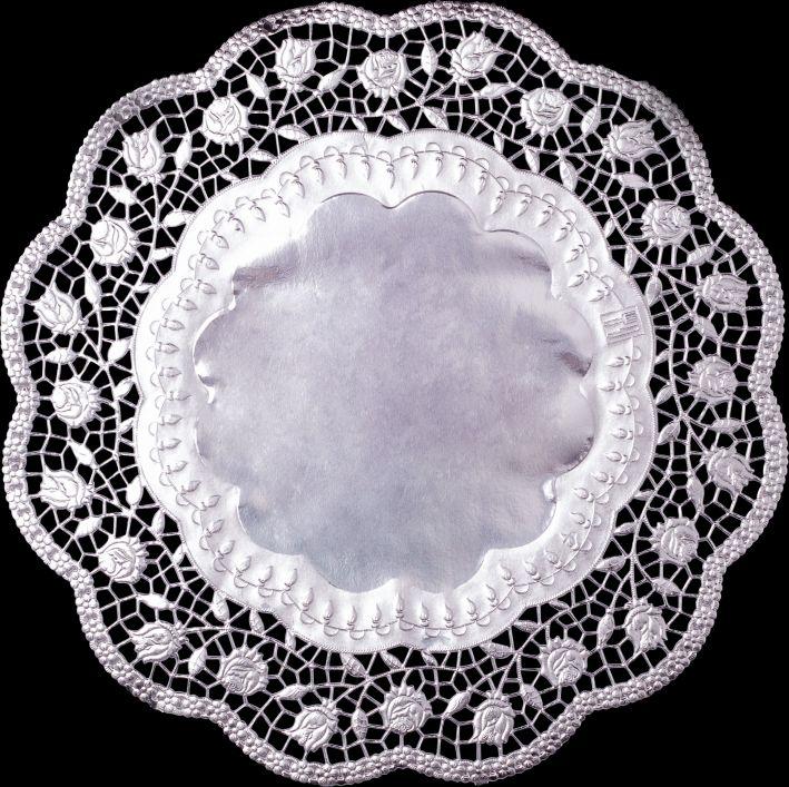 Tortenspitze 36Cmd  4Er Pc Silber