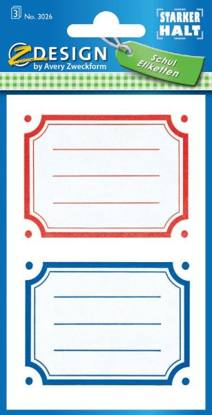AVERY Zweckform Z-Design Buchetiketten Bunte Rahmen