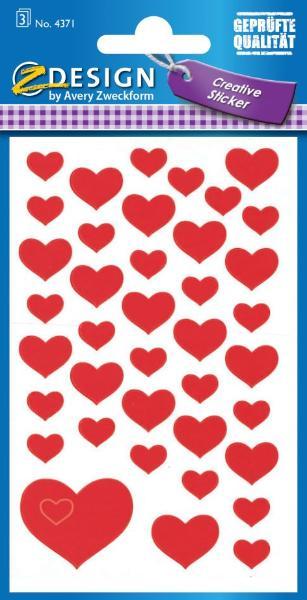 AVERY Zweckform ZDesign Sticker CREATIVE Herzen