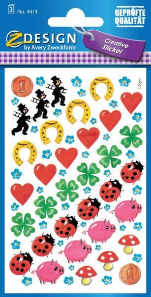 AVERY Zweckform ZDesign Sticker CREATIVE Glücksbringer