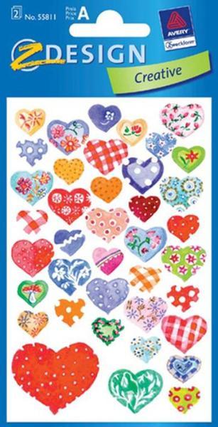 AVERY Zweckform Z-Design Sticker Herzen