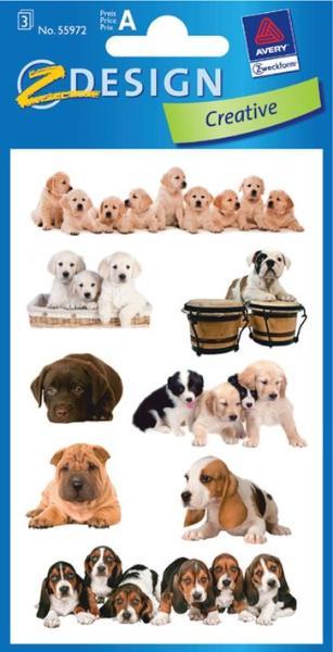 AVERY Zweckform ZDesign Tier-Sticker Hunde