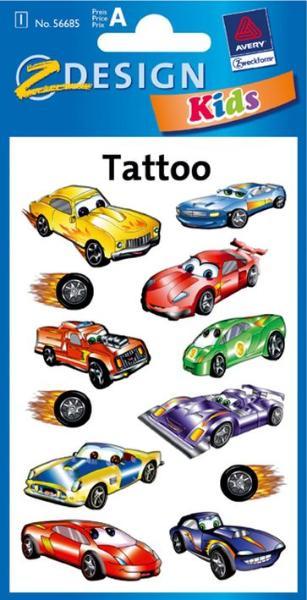 AVERY Zweckform ZDesign Kids Tattoos Autos