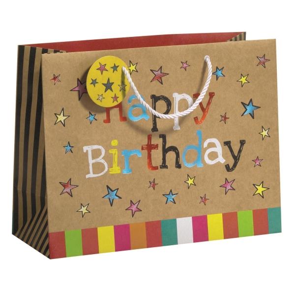 Geschenktragetasche Happy Day Maxi, Größe B335 x T135 x ...