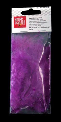 Marabu Feder 10cm violett 15 Stück kein Lebendrupf einge...