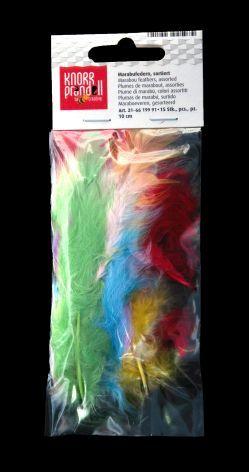 Marabu Feder 5cm sortiert 15 Stück Pastellfarben kein Le...